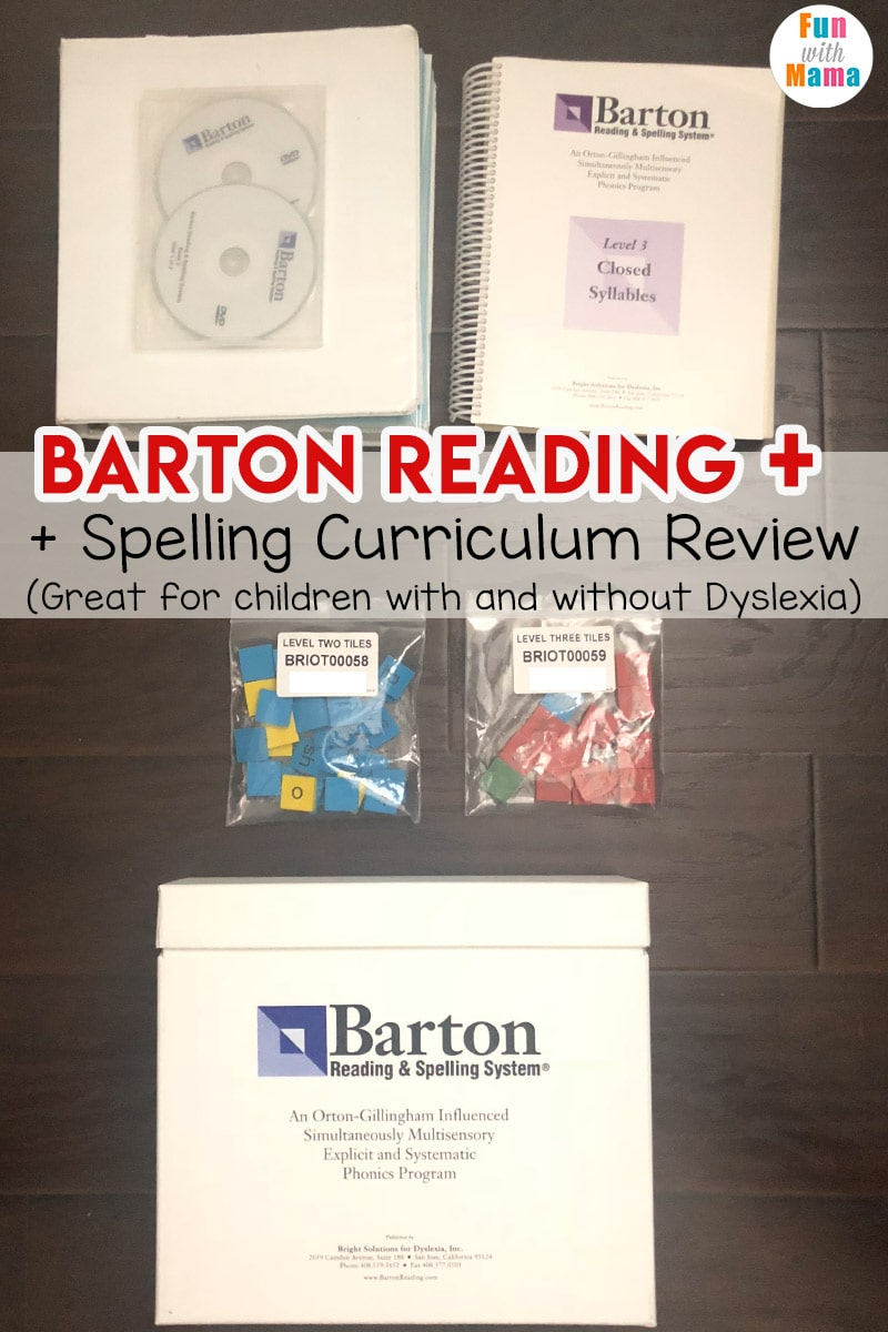 How to help a struggling speller with Barton Reading and Spelling Curriculum. Great for children with #Dyslexia #ortongillingham