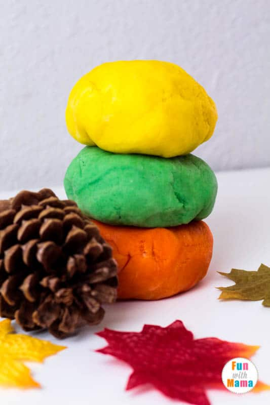 fall playdough