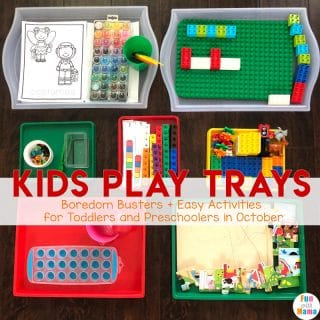 Kids Play Trays For October