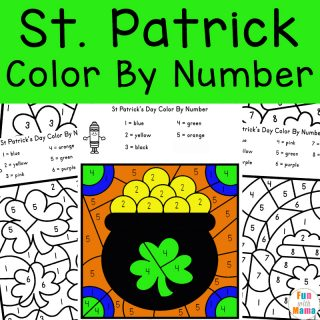 St. Patrick's Day Color by Number