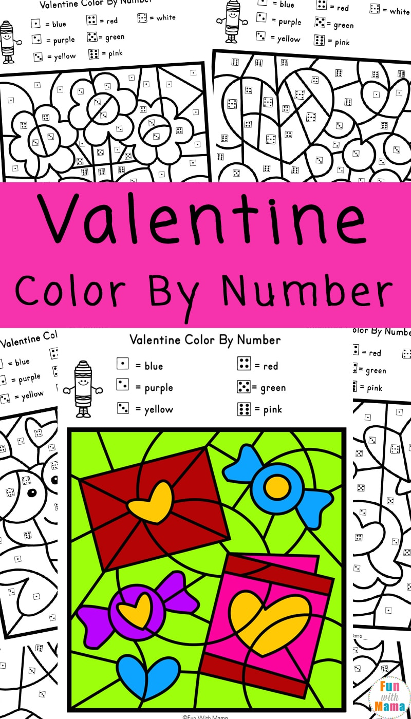 - Valentine Color By Number Worksheets - Fun With Mama