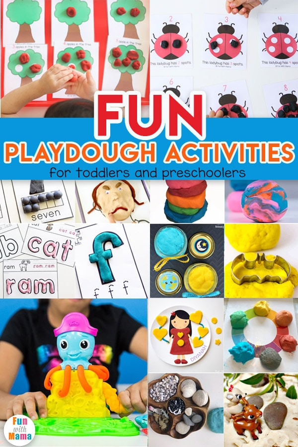 These fun playdough activities are perfect for toddlers and preschoolers to strengthen those fine motor skills and future handwriting too!