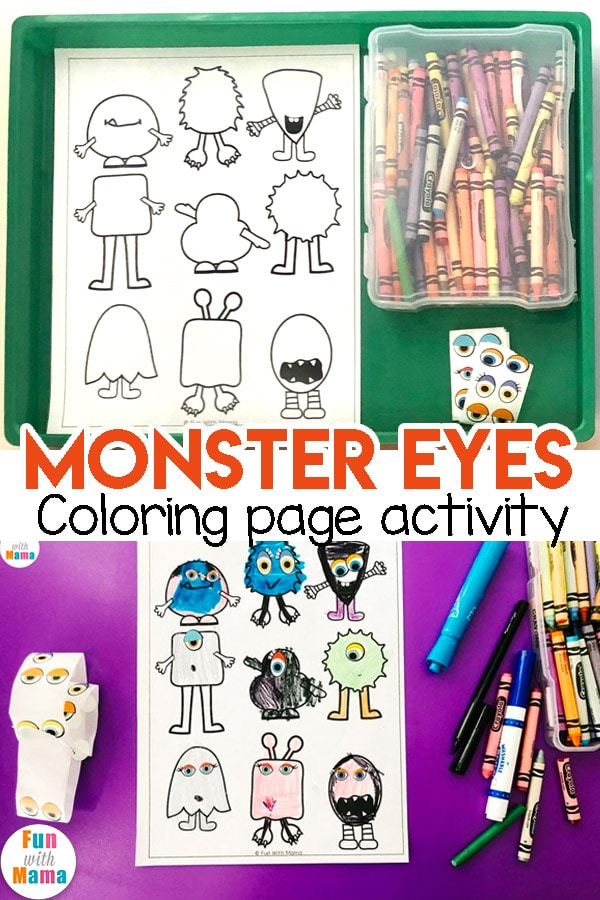 monster eyes coloring page