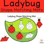 Ladybug Shape Matching Mats – Shapes for Preschool and Early Learners