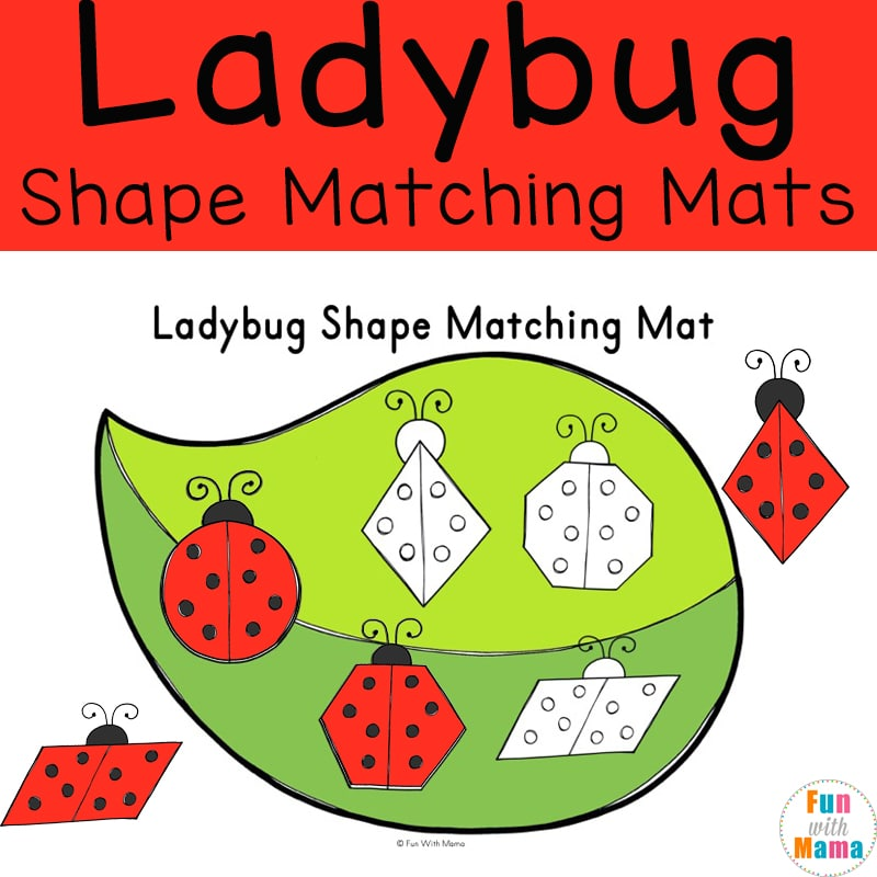 Ladybug Shape Matching Mats - Shapes for Preschool and Early Learners