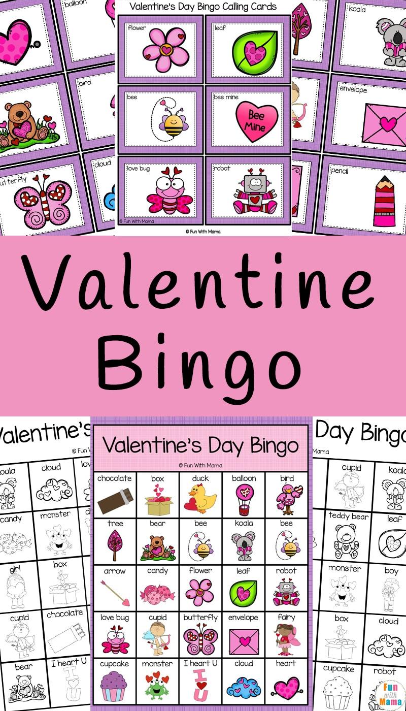 valentine's day bingo  fun with mama