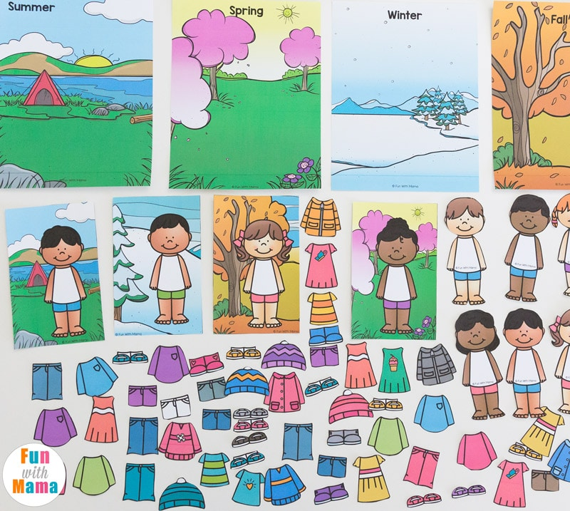 dc2b2d9a94fc Printable Winter Paper Dolls Dress Up Busy Bag - Fun with Mama