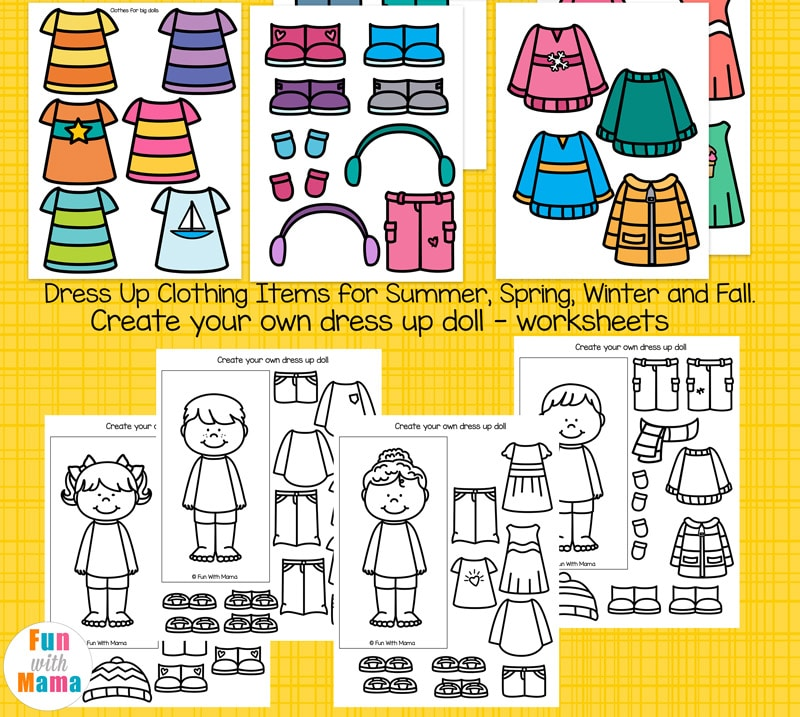 printable winter paper dolls dress up busy bag fun with mama. Black Bedroom Furniture Sets. Home Design Ideas