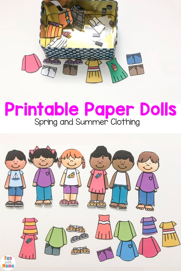 Printable Paper Dolls For Spring, Summer, Winter and Fall ...