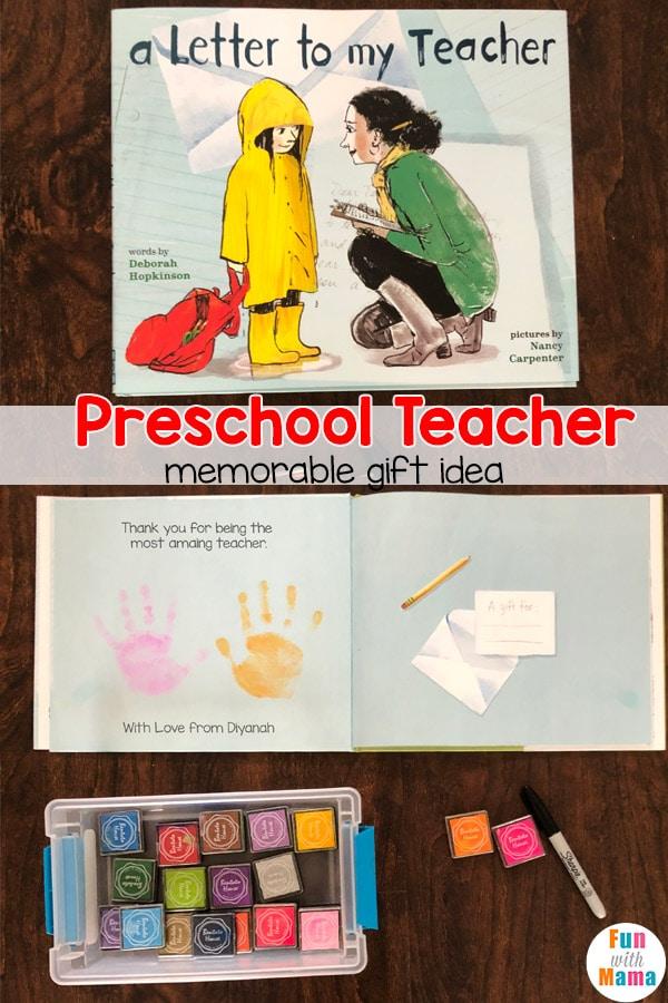 Preschool Teacher Gift All About My Teacher Book End of |Preschool Teacher Gifts Books