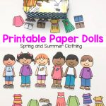 Printable Paper Dolls For Spring, Summer, Winter and Fall