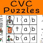 CVC Words With Pictures Puzzles