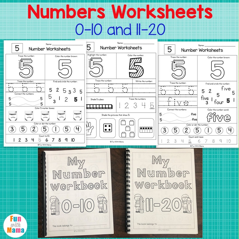 Numbers 1-10 Worksheets - Fun With Mama