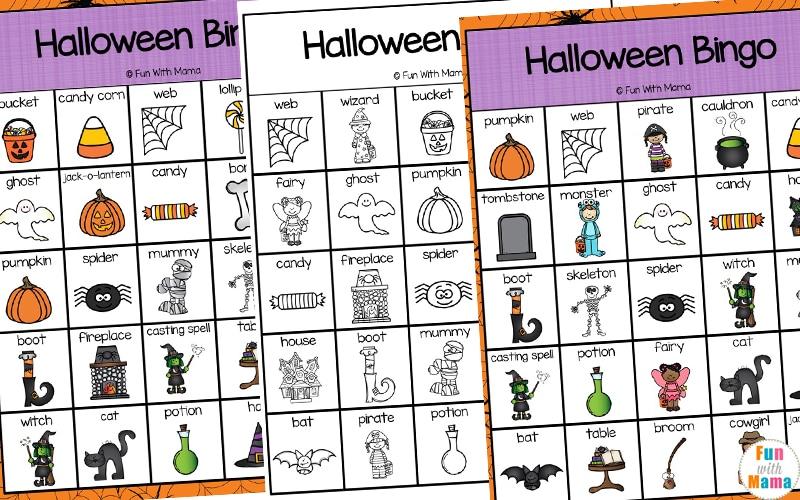 bingo game for Halloween