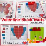 Lego Bricks Valentine Block Mats