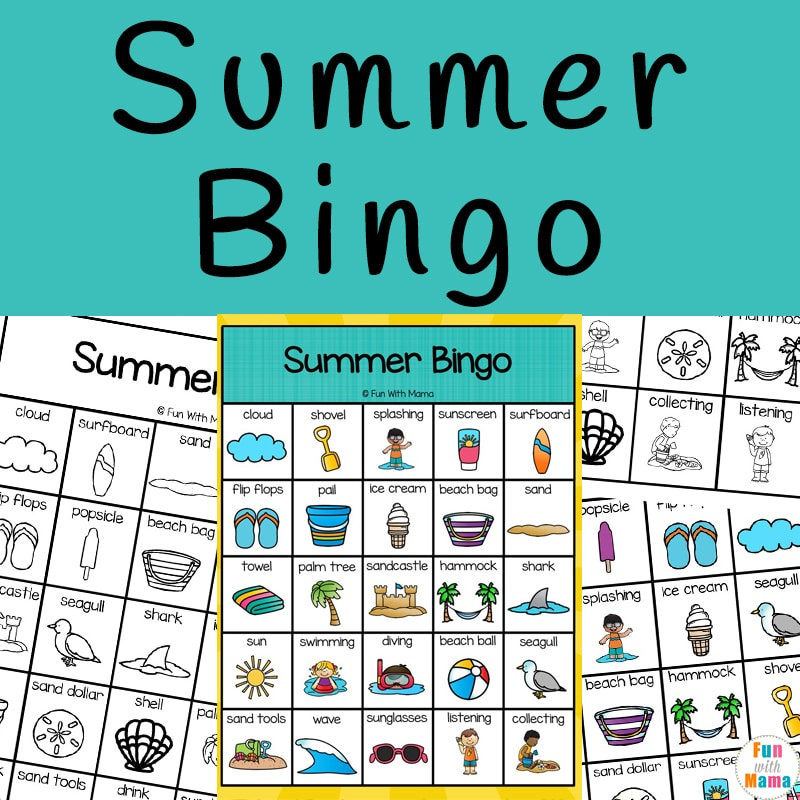 summer bingo game printable
