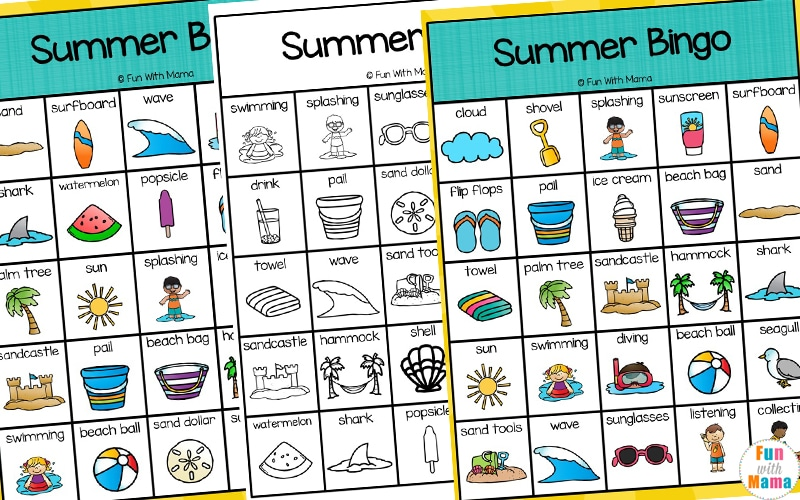 bingo printable for kids