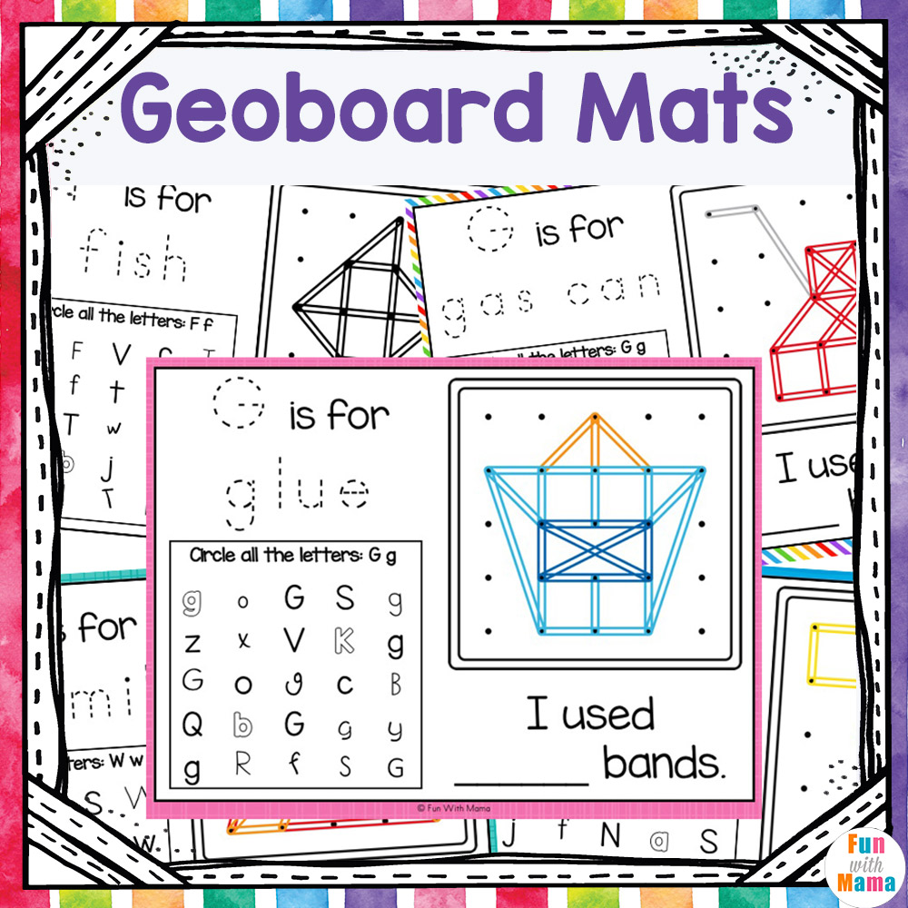 geoboard activities and patterns