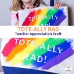Teacher Appreciation Gift Craft – Kid-Painted Tote