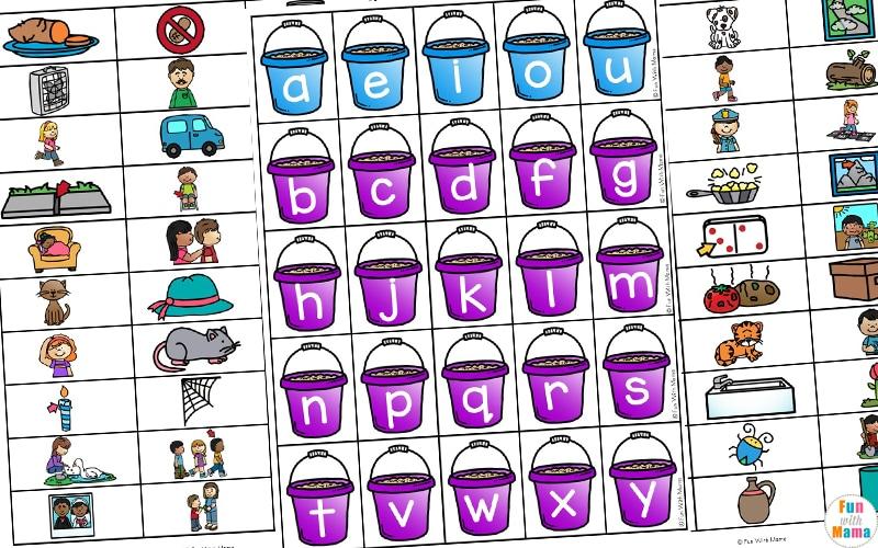 Summer Themed CVC Word Building  - Fun CVC Words Worksheets