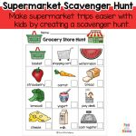 Grocery Store Scavenger Hunt Template