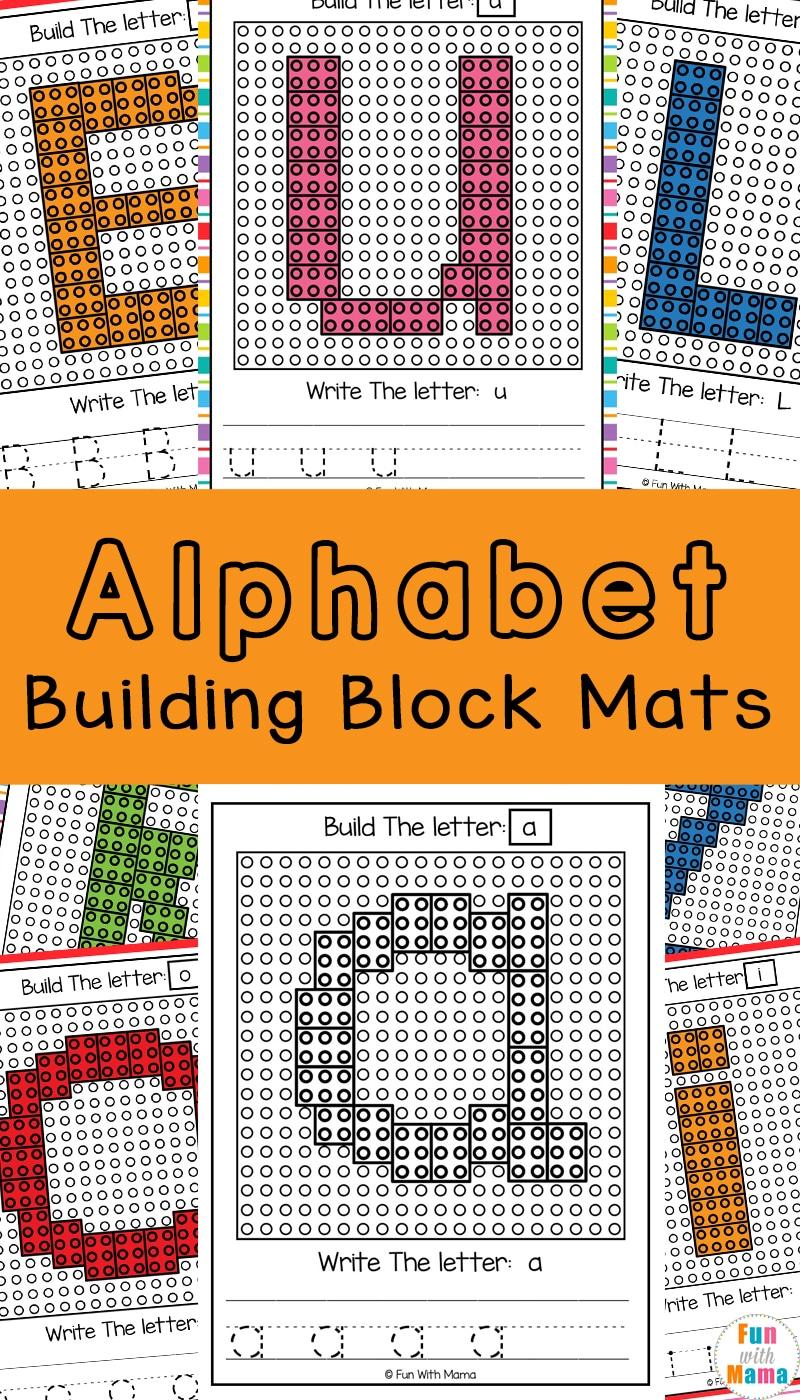 Lego Letters - Lego Alphabet Block Mats