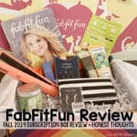 FabFitFun Review – My honest thoughts on the Fall Box.