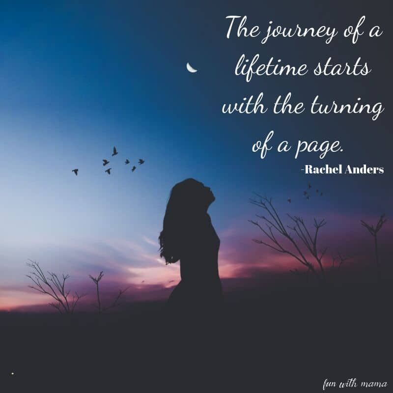 the journey of a lifetime starts with the turning of a page
