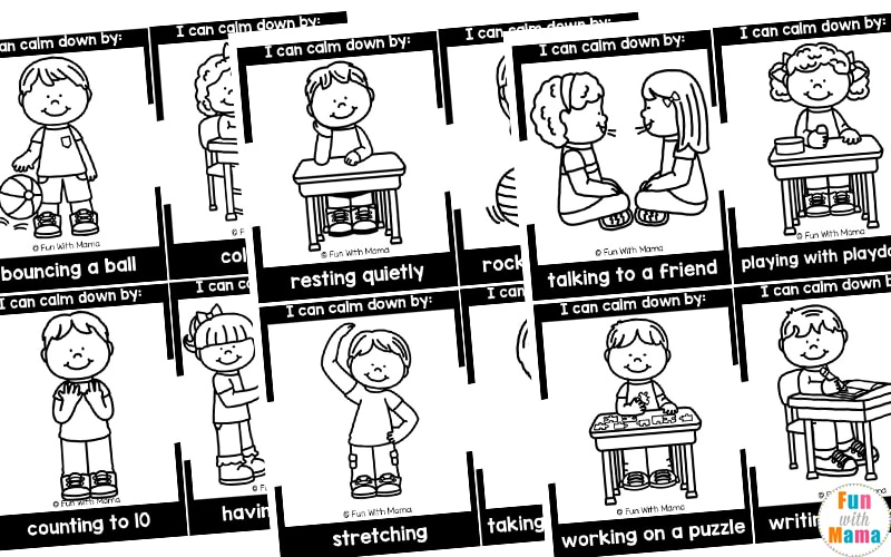calming strategies printable