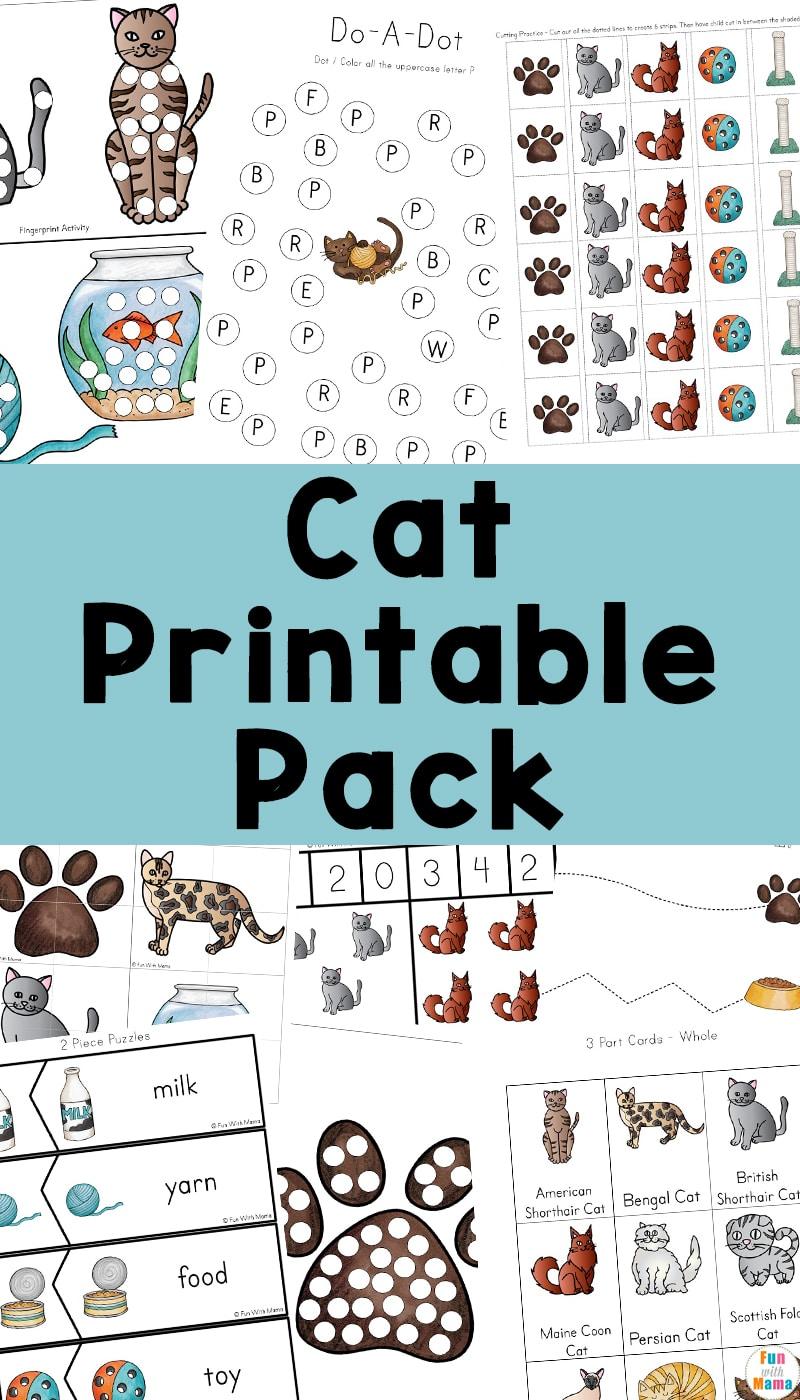 cat printable pack