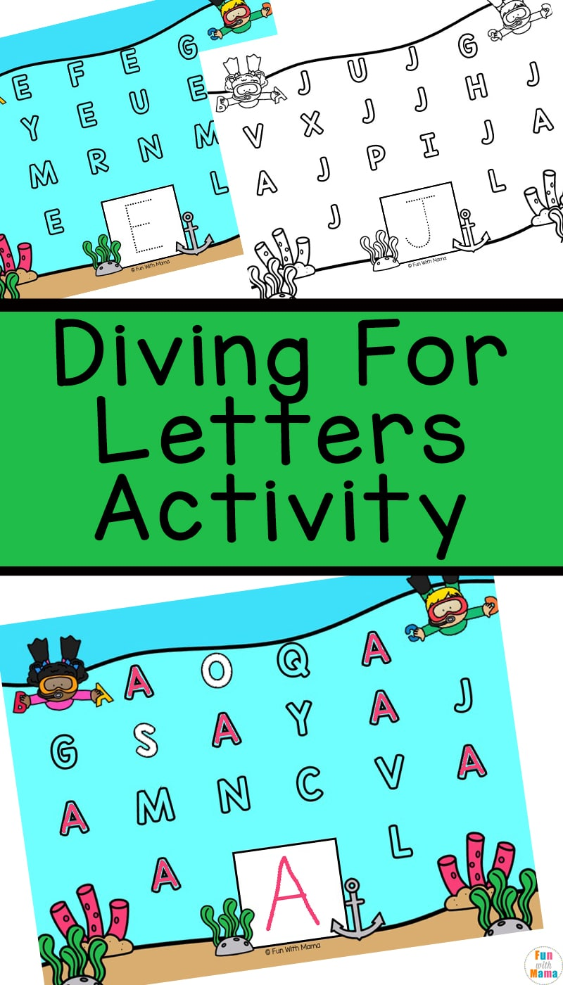 diving for letters alphabet activity