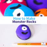 Monster Rock Painting Tutorial – Simple Rock Painting for Kids