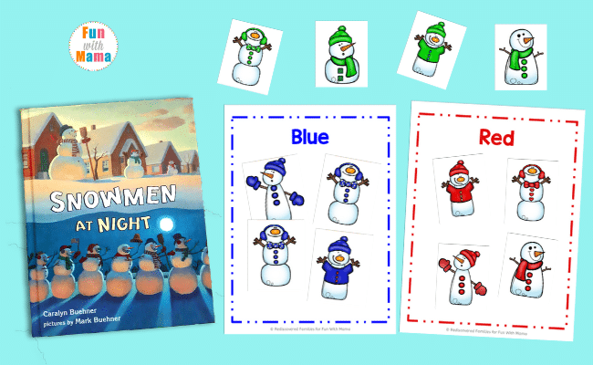 Snowmen at Night for Winter Fun