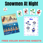 Snowmen at Night: Free Color Sorting Mats for Winter Fun