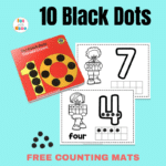 Counting To Ten With Ten Black Dots – Number Practice Sheets for Preschoolers