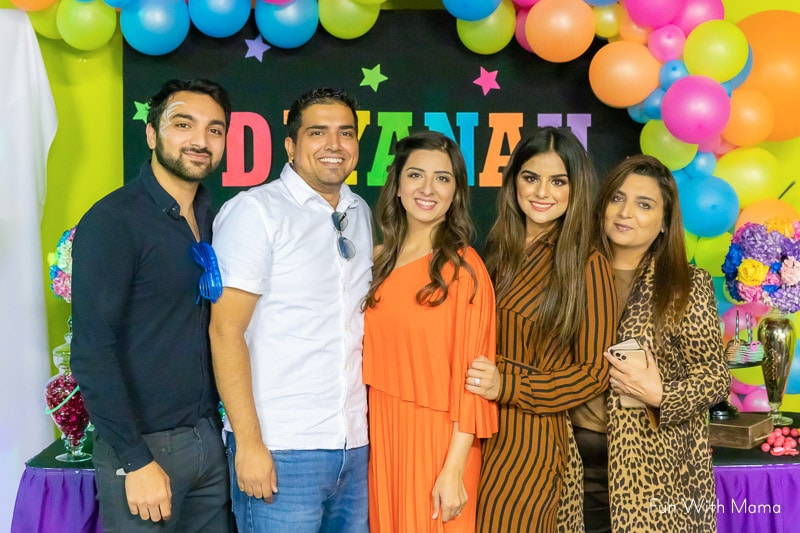 family members at birthday party