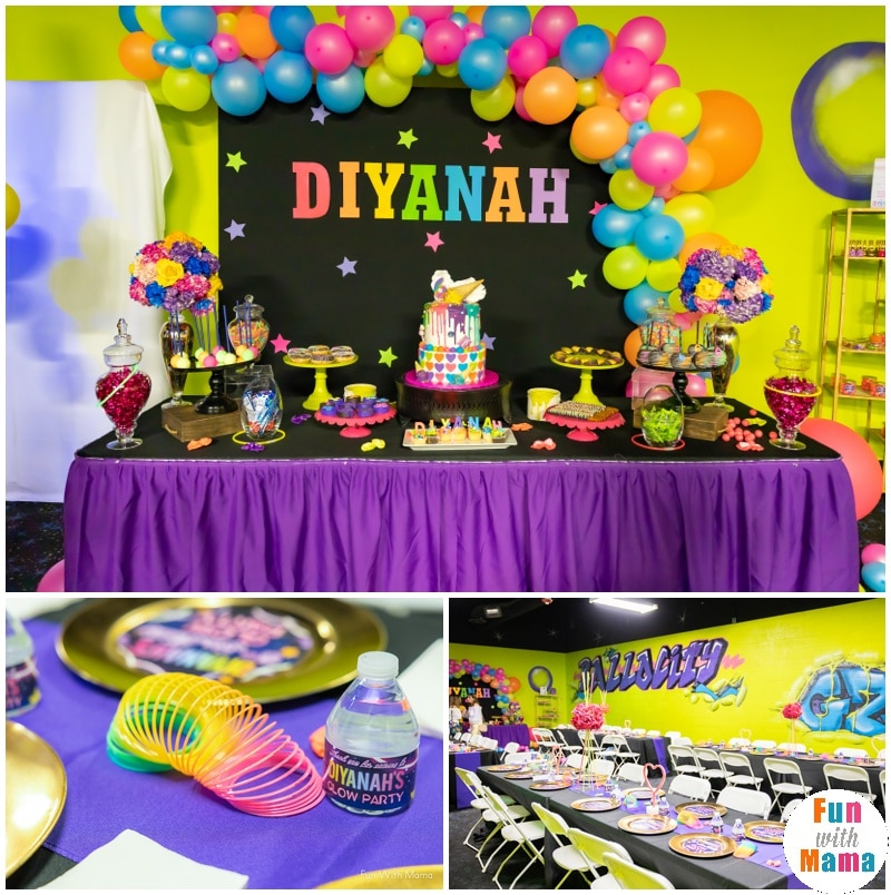 Magnificent Neon Party Glow In The Dark Party For 6Th Birthday Party Fun Funny Birthday Cards Online Eattedamsfinfo