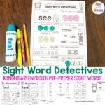 Pre K Sight Words Worksheets