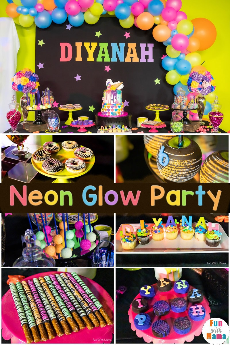 Phenomenal Neon Party Glow In The Dark Party For 6Th Birthday Party Fun Personalised Birthday Cards Petedlily Jamesorg