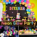 Neon Party + Glow In The Dark Party for 6th Birthday Party
