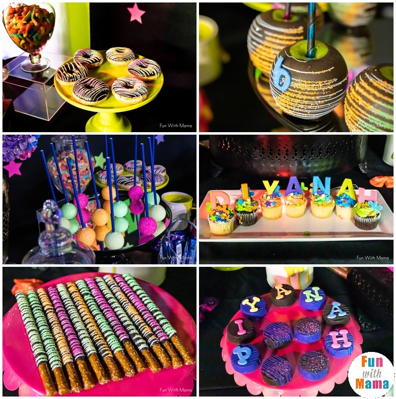 Outstanding Neon Party Glow In The Dark Party For 6Th Birthday Party Fun Personalised Birthday Cards Petedlily Jamesorg