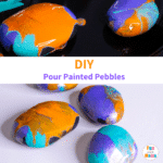 Pouring Pebble Painting Activity for Kids