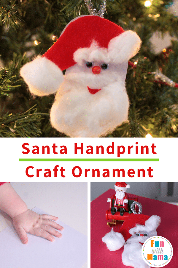 handprint ornament santa craft