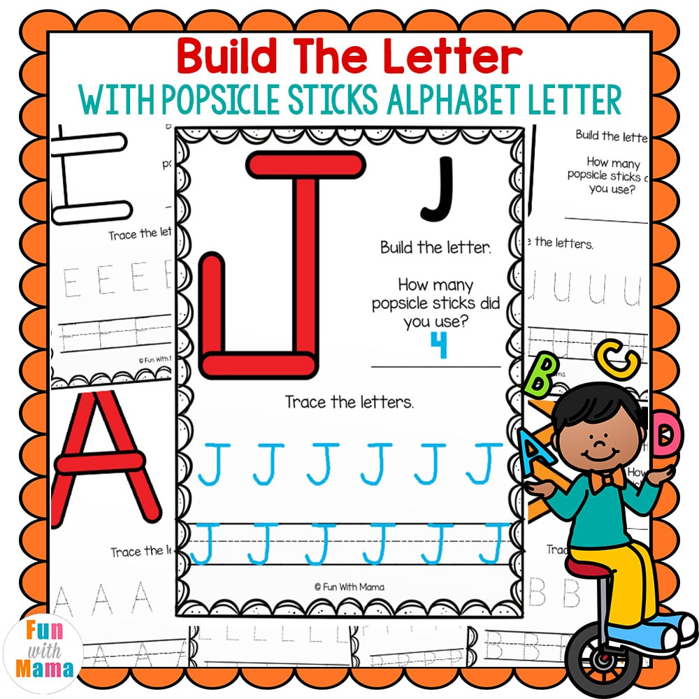 build the letter alphabet learning