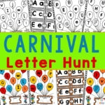 carnival letter hunt preschool learning packet
