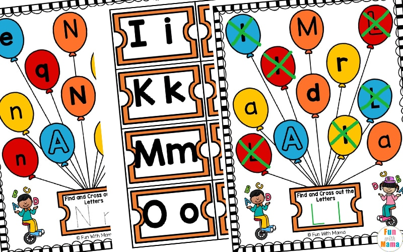 alphabet preschool letter worksheets