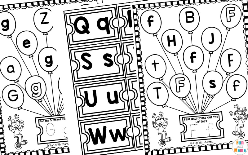black and white copy of preschool letter worksheets