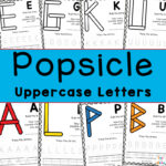 Popsicle Uppercase Letter Printables – Fun Teaching Letters Activity