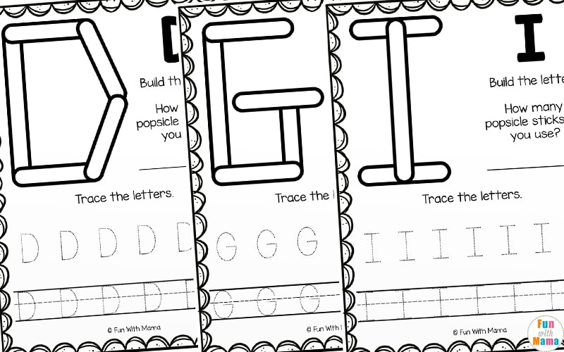 teaching letters activity and worksheets