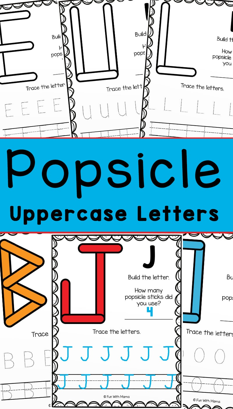 popsicle uppercase teaching letters activity